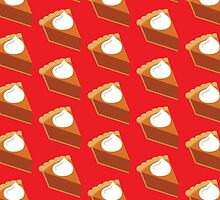 Pumpkin Pie Pattern Red by HolidaySwaggT