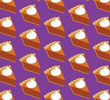 Pumpkin Pie Pattern Purple by HolidaySwaggT