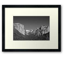 Moon Over Half-Dome - Yosemite National park Framed Print