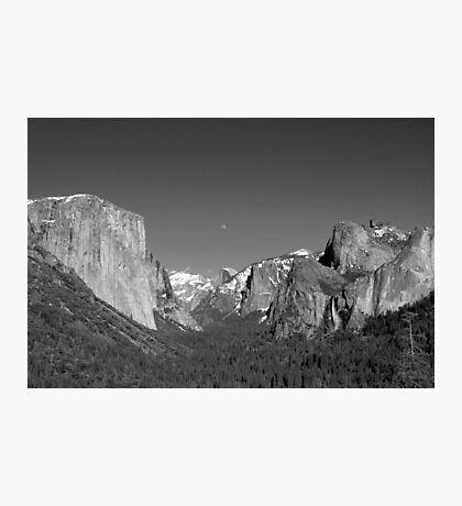 Moon Over Half-Dome - Yosemite National park Photographic Print