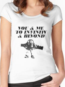 You & Me To Infinity & Beyond Women's Fitted Scoop T-Shirt