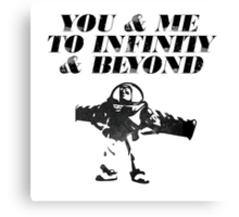 You & Me To Infinity & Beyond Canvas Print