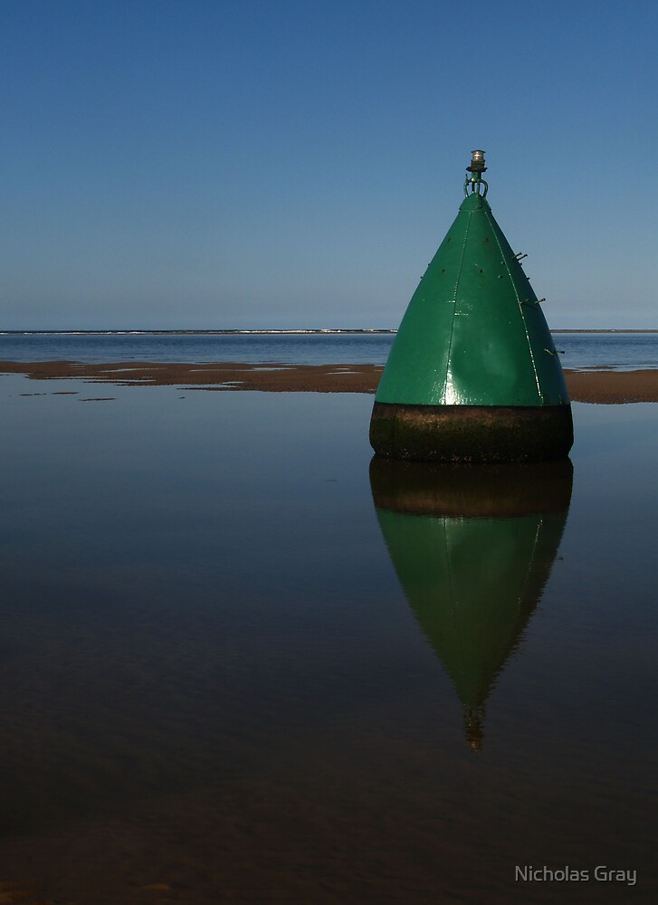 Bouy Reflection by Nicholas Gray