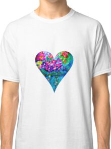 Red Floral Heart Designer Art Gifts Classic T-Shirt