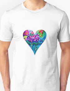 Red Floral Heart Designer Art Gifts Unisex T-Shirt