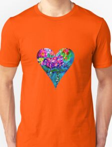 Red Floral Heart Designer Art Gifts Unisex T-Shirt