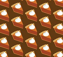 Pumpkin Pie Pattern Brown by HolidaySwaggT