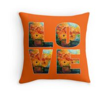Autumn Flowers Art Designed Gifts Throw Pillow