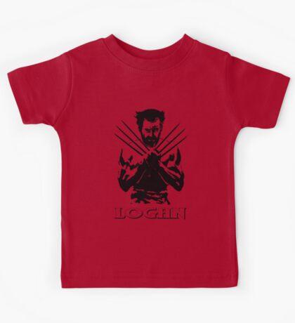 Old Logan (Wolverine/Black) Kids Tee