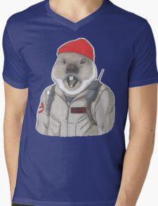 Bill-Hog Mens V-Neck T-Shirt