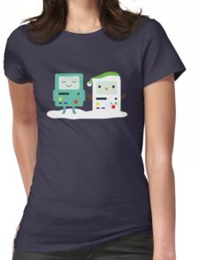 Building SnowMO (Green) Womens Fitted T-Shirt