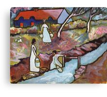 Fetching the water (from my original painting) Canvas Print