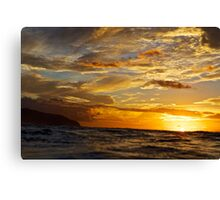 trippy skies Canvas Print