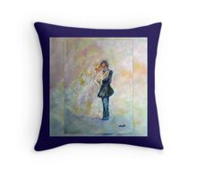 Wedding Dance Art Designed Decor & Gifts - Navy Blue Throw Pillow