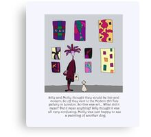 Silly Art Canvas Print
