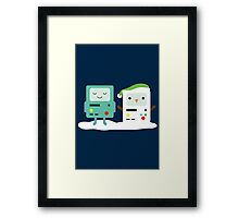 Building SnowMO (Green) Framed Print