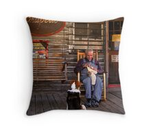 feed the dog Throw Pillow