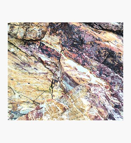 Rich Garnet Marble Photographic Print