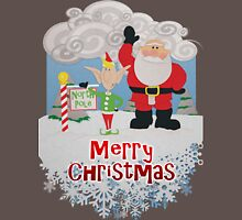 Santa and Elf at the North Pole - Merry Christmas Unisex T-Shirt