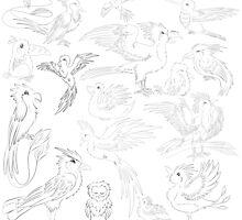 Sketch birds by Ink-City