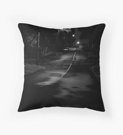 suburban street Throw Pillow