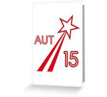 AUSTRIA STAR 2015 Greeting Card