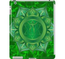 Heart Chakra with green flare BG iPad Case/Skin