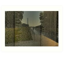 Vietnam War Memorial Art Print