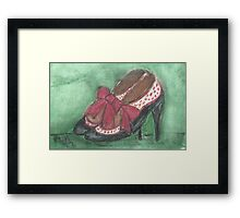 Polka Dot Shoes! Framed Print