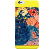 Romance Flowers in Blue Vase Artist Decor & Gifts iPhone Case/Skin