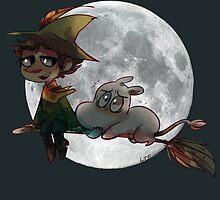 Moon-min by lemonteaflower