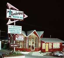 Thunderbird Motor Inn, Lake George NY 1960's by aladdincolor