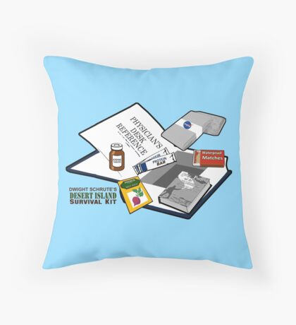 Desert Island Survival Kit Throw Pillow