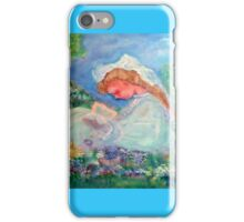 Little Girl Reading in the Garden by Marie -Jose Pappas iPhone Case/Skin