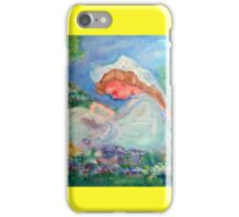 Little Angel on a Reindeer by Marie-Jose Pappas Yellow iPhone Case/Skin