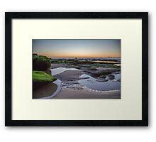 Sunrise at Caves Beach Framed Print