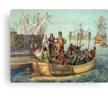 First Voyage of Christopher Columbus Canvas Print