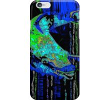 Caribbean Blue Parrot Fish Mosaic iPhone Case/Skin