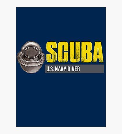 U.S. Navy SCUBA Diver Photographic Print