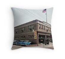 Degnan Chevrolet Auto Dealership Exterior 1950's Throw Pillow