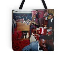 Band playing in the Red Carpet Lounge of the Pitts Motor Hotel in the 1950's Tote Bag