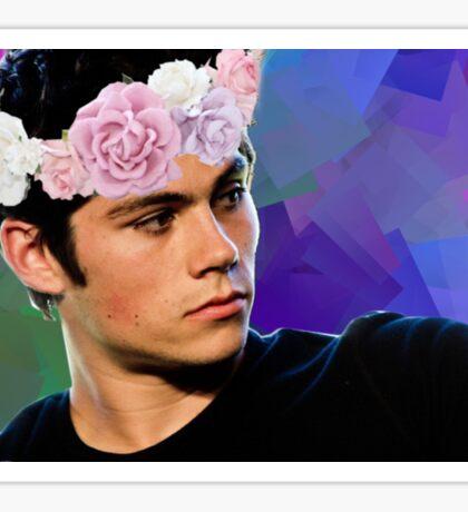 Dylan O'Brien - Flower Crown Sticker