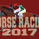 Horse Racing 2017 - white lettering by Ginny Luttrell
