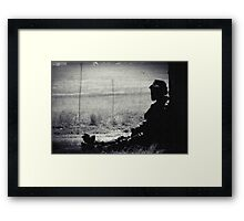 BLACK AND WHITE LONELINESS...... Framed Print