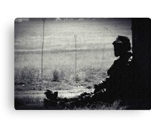 BLACK AND WHITE LONELINESS...... Canvas Print