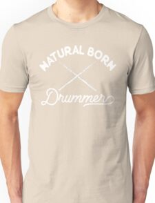 Percussion T shirt - natural born drummer Unisex T-Shirt