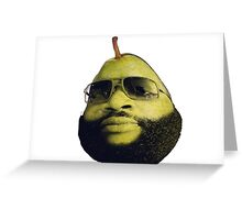 Rick Ross the pear Greeting Card