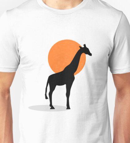 Girraffe Sunset Unisex T-Shirt