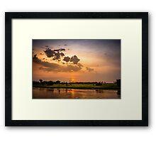 Yellow Water Sunset, Kakadu Framed Print