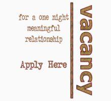One Night Vacancy - Design 2 by Zal Saadi